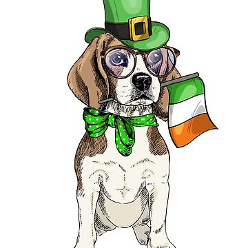 Beagle Ireland Flag - St Patrick Day Dog Lover Gifts by EcoKeeps