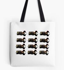 Stylized teal duck Tote Bag