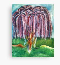 Rainbow Willow Canvas Print