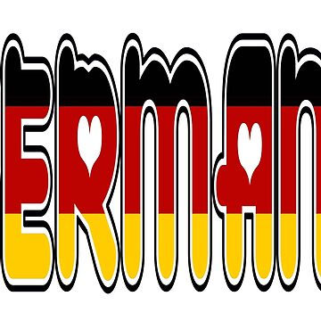 Germany Font #2 with German Flag by Havocgirl