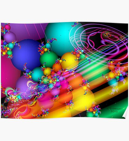 Happy Easter Fractal Poster