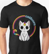 Caticorn Tshirt Einhorn-Katzen-Hemd-Regenbogen Slim Fit T-Shirt