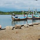 Balinese boy down by the river by Michael Brewer