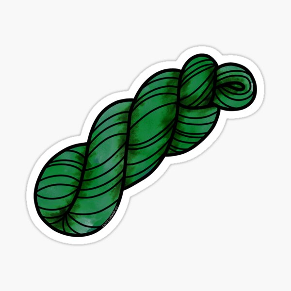 Yarn Skein in Fern Green  Sticker