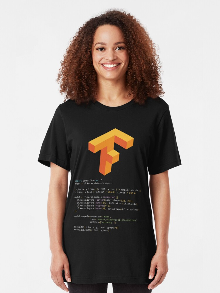 Tensorflow keras MNIST | Slim Fit T-Shirt