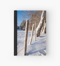 Rural winter scene Hardcover Journal