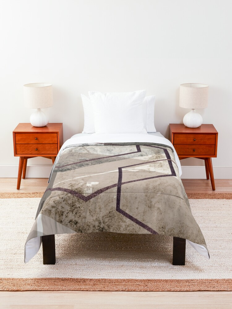 Alternate view of Abstract Landscape Comforter