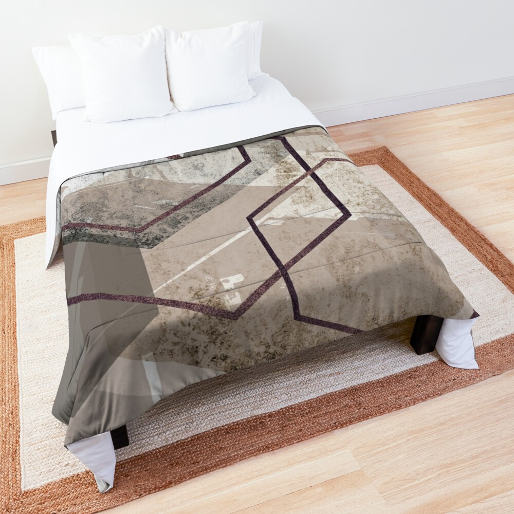 Abstract Landscape Comforter