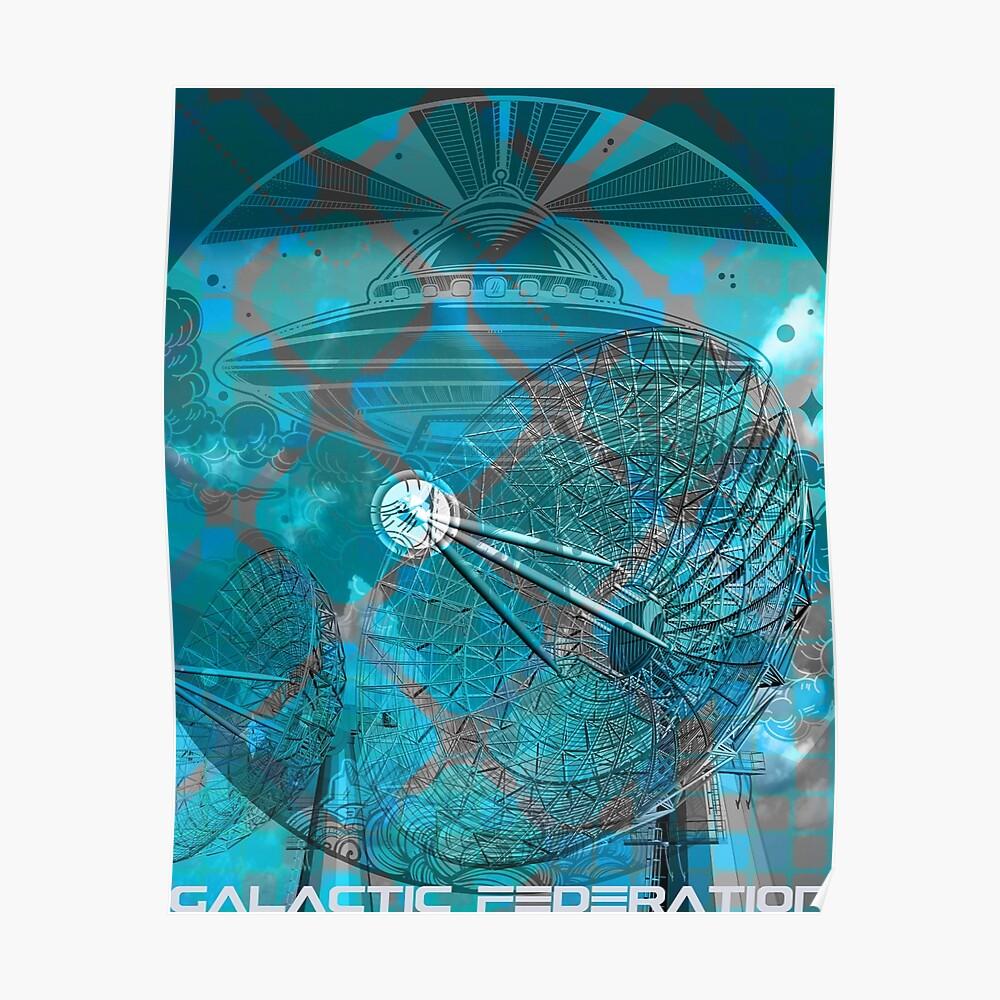 Galaktische Föderation des Lichts - Schatten des Blaus Poster
