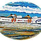 Beach Bums II & Their Budgie Smugglers  by WhiteDove Studio kj gordon