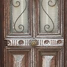 Glass and wood door by Katherine Clarke