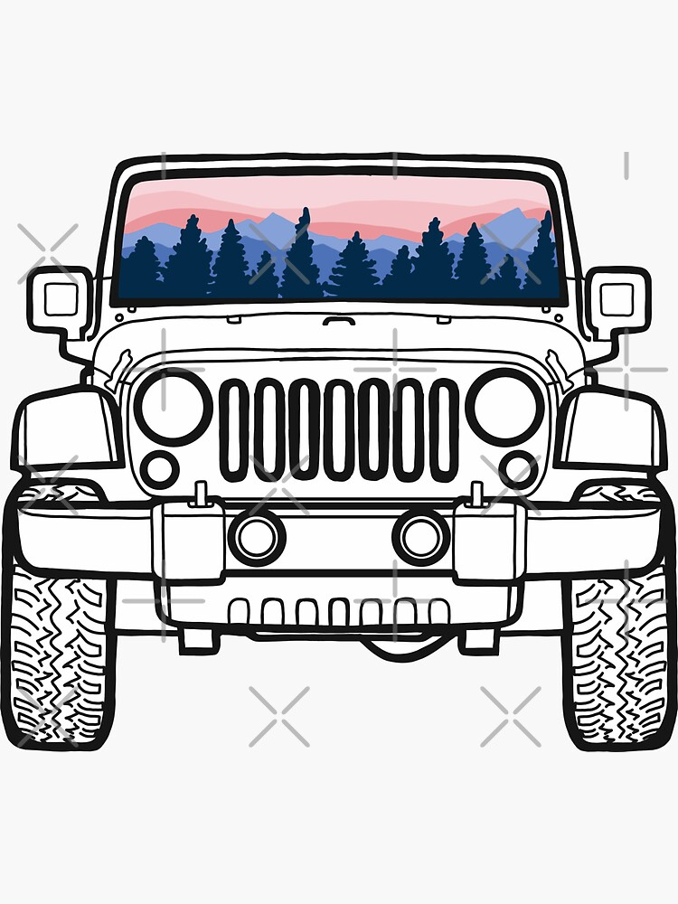 Sunset Pines Jeep by abbyconnellyy