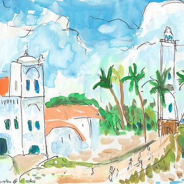 Lighthouse and Mosque, Galle Fort by JohnDouglas