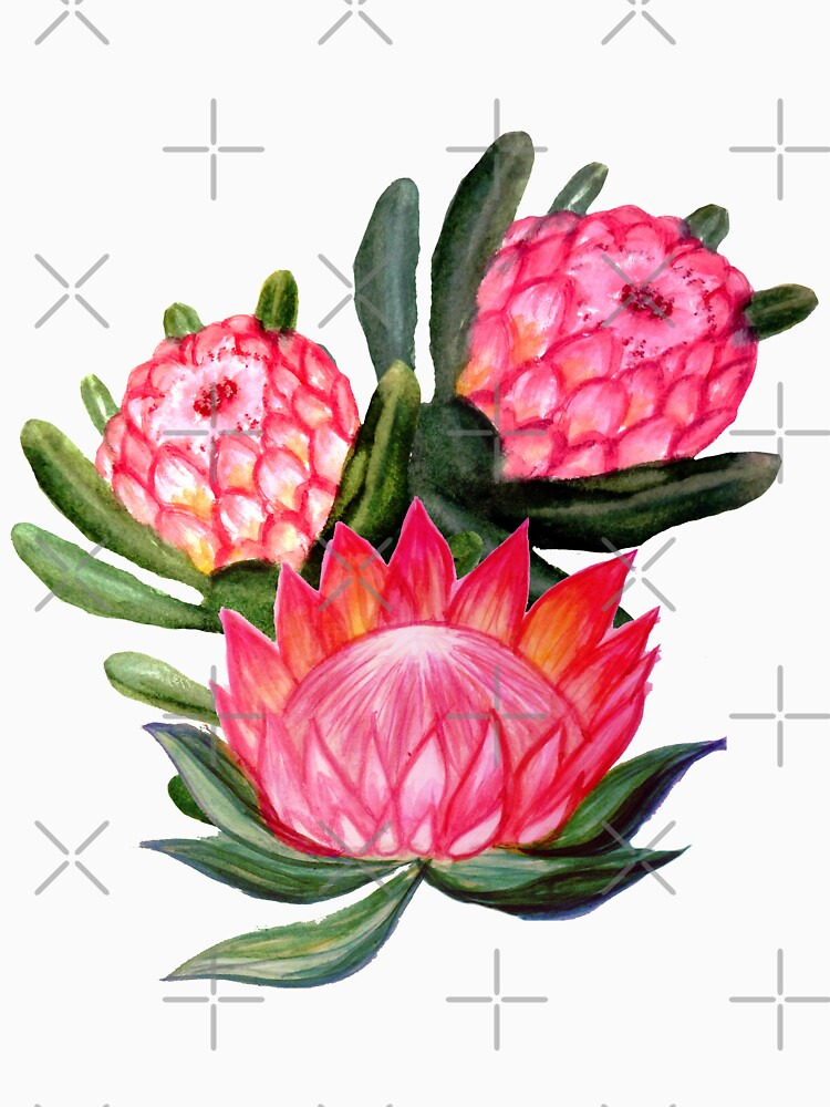Protea flower watercolor - all over print by MagentaRose