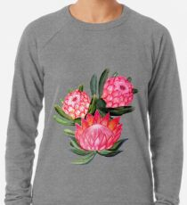 Protea flower watercolor - all over print Lightweight Sweatshirt