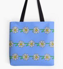 Daisy Chain, Blue Tote Bag