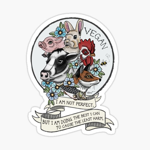 Vegan - Not Perfect Sticker