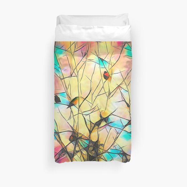 Robins In Trees Duvet Cover
