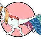 « Tyranotaure licorne arc-en-ciel » par ScotisFr
