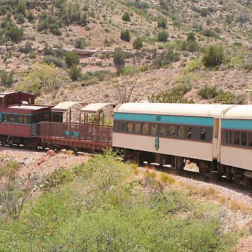 Verde Canyon train caboose and carriages by FranWest