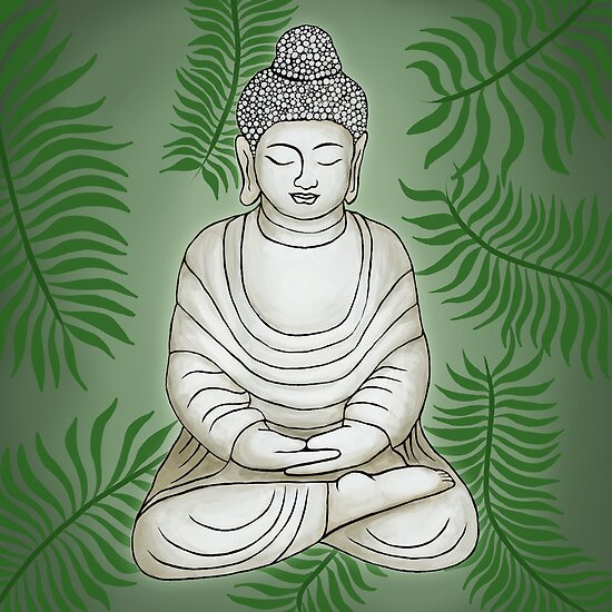Buddha in the Garden by julieerindesign