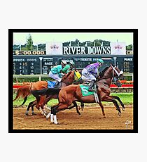 River Downs, Just out of the Gate Photographic Print