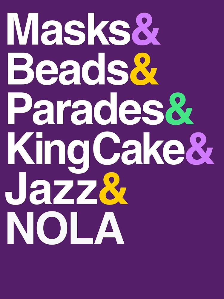 Marti Gras Helvetica (Masken, Perlen, Paraden, Königskuchen, NOLA) von BootsBoots