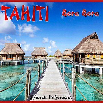TAHITI : Bora Bora Travel to French Polynesia Print by posterbobs