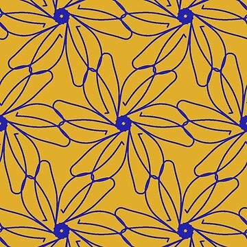 Yellow and Blue Floral by CarolM
