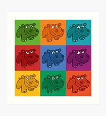 Pop Hippos Art Print