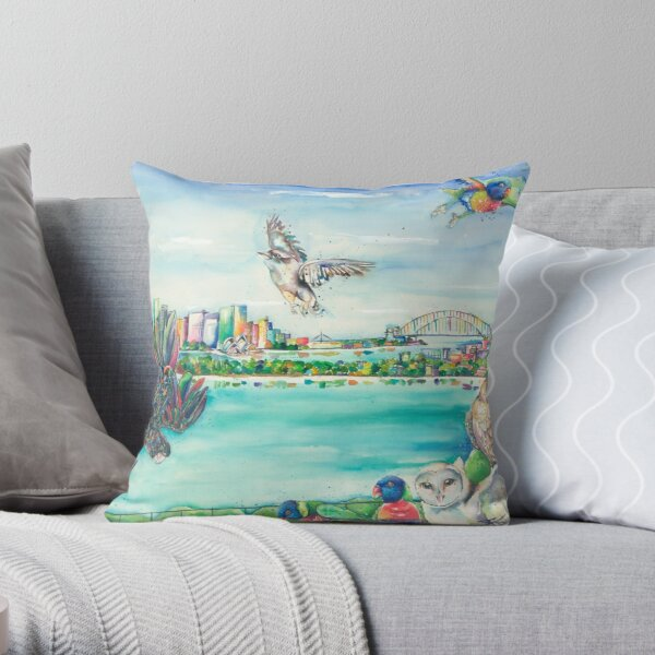 Birds Eye View Taronga Zoo, Sydney Throw Pillow