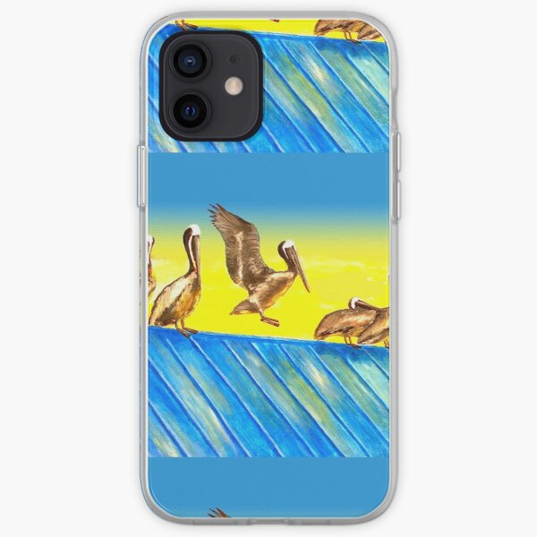 Pelicans on Rooftop iPhone Soft Case