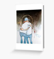 Backstabber Greeting Card