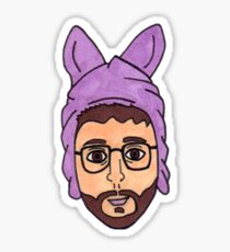 Bryan Fuller In A Bunny Hat Sticker