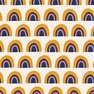 Rainbow Arcs Pattern by Sandra Hutter