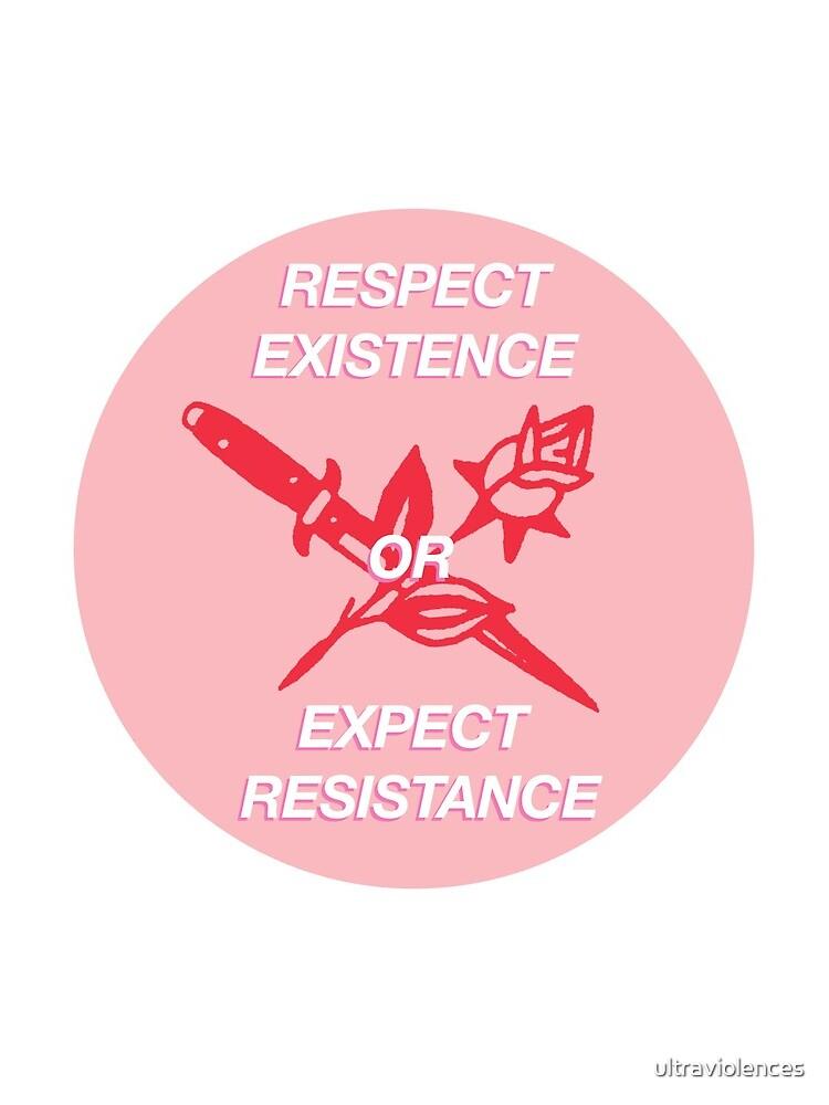 Existenz respektieren oder Widerstand erwarten von ultraviolences