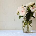 Pale pink roses by Natalie Board