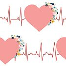 Pink Health Hearts by Sandra Hutter