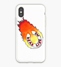 Dead Like Me - Flaming Toilet Seat iPhone Case