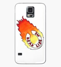 Dead Like Me - Flaming Toilet Seat Case/Skin for Samsung Galaxy