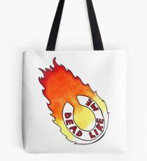 Dead Like Me - Flaming Toilet Seat Tote Bag