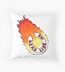Dead Like Me - Flaming Toilet Seat Throw Pillow