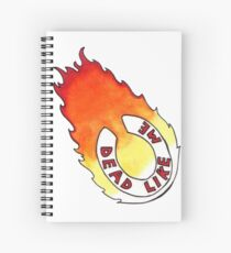 Dead Like Me - Flaming Toilet Seat Spiral Notebook