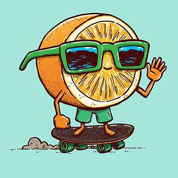 The Orange Skater by nickv47