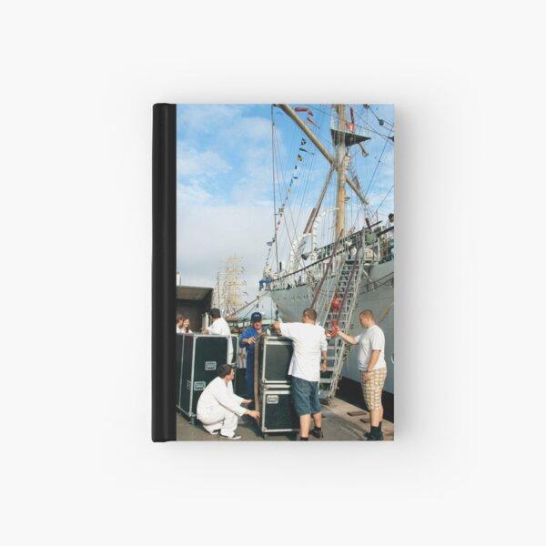 "Loading the ""Dar Mlodziezy"" Hardcover Journal"