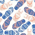 Blue Flip Flops by Sandra Hutter