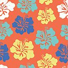 Hawaiian Hibiscus Flowers by Sandra Hutter
