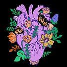 Floral Heart Pastel Goth Anatomical Heart by lunaelizabeth
