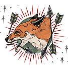 Fox with Arrows by MoxxiFoxxy