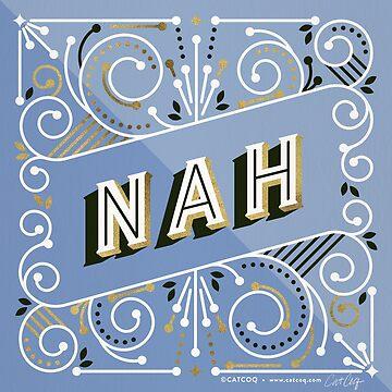 Nah - Immergrün- & Goldpalette von catcoq